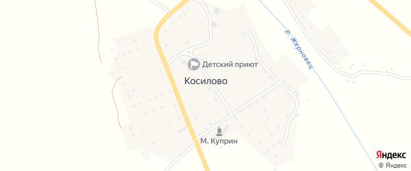 Улица Егора Новикова на карте деревни Косилово с номерами домов