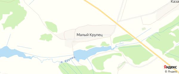 Карта села Малого Крупца в Брянской области с улицами и номерами домов