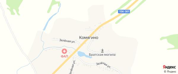 Брянская улица на карте села Комягино с номерами домов