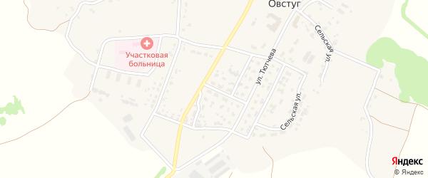 Переулок Трубникова на карте села Овстуга с номерами домов