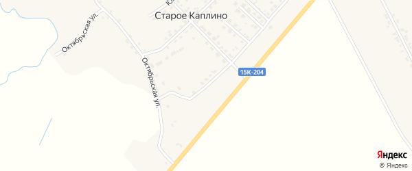 Молодежный переулок на карте деревни Старое Каплино с номерами домов