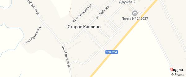 Молодежная улица на карте деревни Старое Каплино с номерами домов