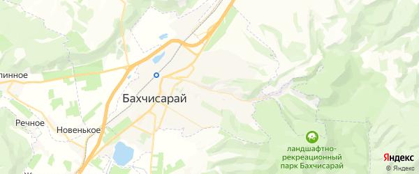 Карта Бахчисарая с районами, улицами и номерами домов