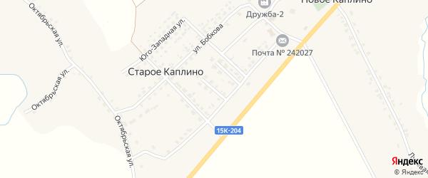 Комсомольская улица на карте деревни Старое Каплино с номерами домов