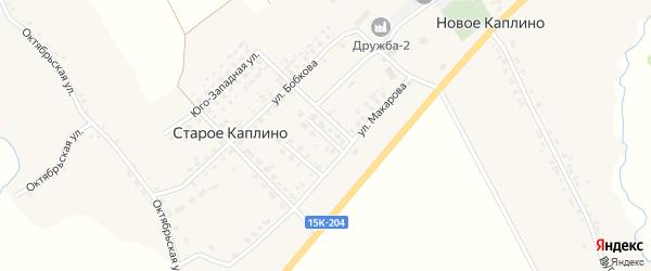 Улица Савченковой на карте деревни Старое Каплино с номерами домов