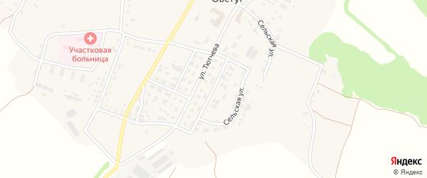 Переулок Машиностроителей на карте села Овстуга с номерами домов