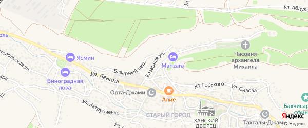 Базарная улица на карте Бахчисарая с номерами домов