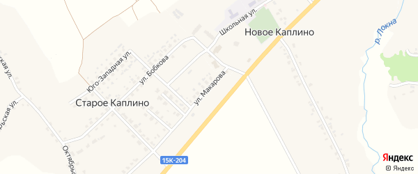 Улица Макарова на карте деревни Старое Каплино с номерами домов