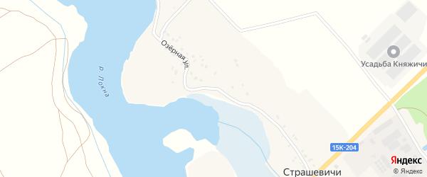 Озерная улица на карте села Страшевичи с номерами домов