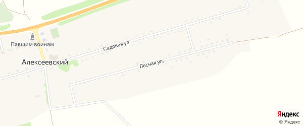 Лесная улица на карте Алексеевского поселка с номерами домов