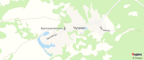 Лесная улица на карте деревни Чухраи с номерами домов