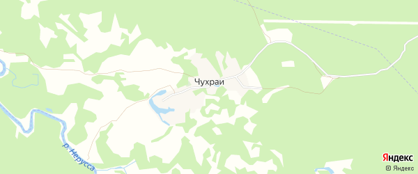 Карта деревни Чухраи в Брянской области с улицами и номерами домов