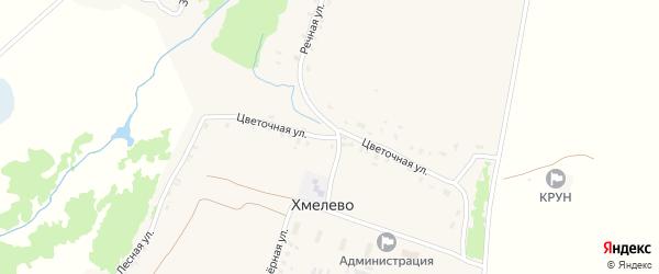 Цветочная улица на карте деревни Хмелево с номерами домов