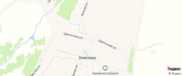 Озерный переулок на карте деревни Хмелево с номерами домов