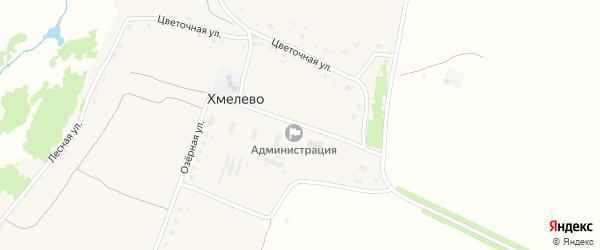 Молодежная улица на карте деревни Хмелево с номерами домов