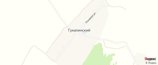 Полевая улица на карте Гукалинского поселка с номерами домов