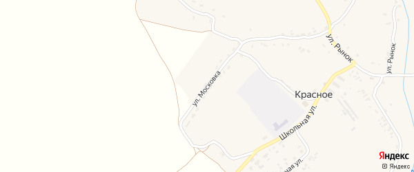 Улица Московка на карте Красного села с номерами домов