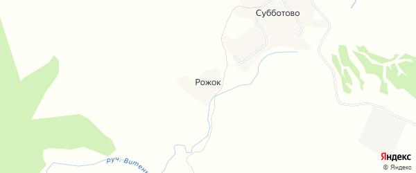 Карта деревни Рожка в Брянской области с улицами и номерами домов