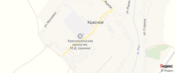 Школьная улица на карте Красного села с номерами домов