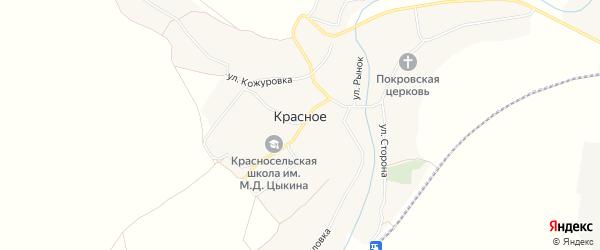 Карта Красного села в Брянской области с улицами и номерами домов