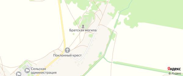 Сенчуровская улица на карте села Новой Погощи с номерами домов