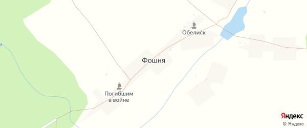 Лесная улица на карте села Фошни с номерами домов