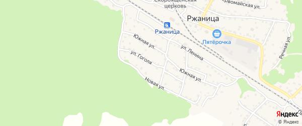 Улица Гоголя на карте села Ржаницы с номерами домов