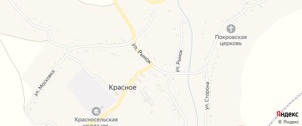 Улица Рынок на карте Красного села с номерами домов