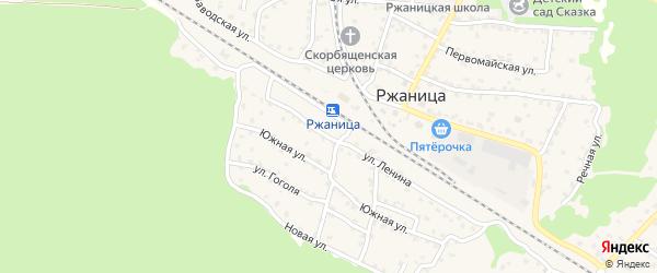 Улица Ленина на карте села Ржаницы с номерами домов