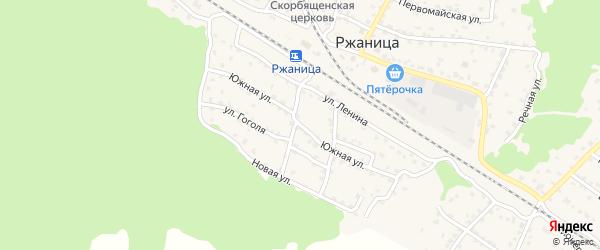 Южная улица на карте села Ржаницы с номерами домов