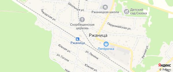 Заводская улица на карте села Ржаницы с номерами домов