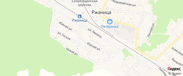 Новый переулок на карте села Ржаницы с номерами домов