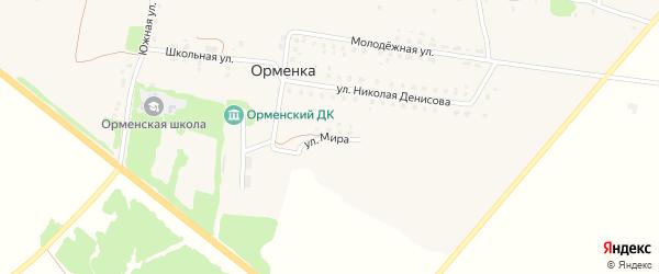 Улица Мира на карте деревни Орменки с номерами домов