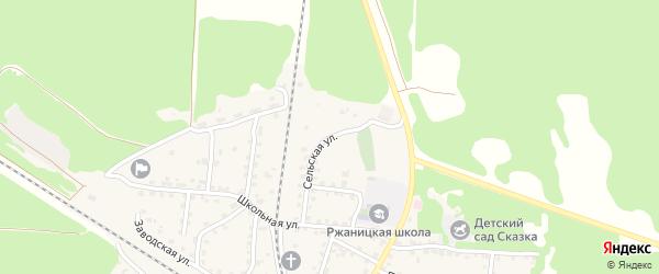 Сельская улица на карте села Ржаницы с номерами домов