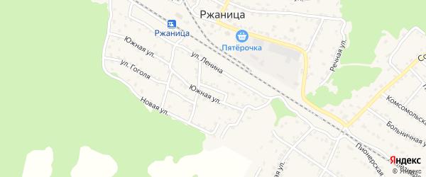 Улица Чехова на карте села Ржаницы с номерами домов
