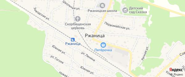 Рабочая улица на карте села Ржаницы с номерами домов