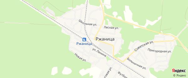 Карта села Ржаницы в Брянской области с улицами и номерами домов
