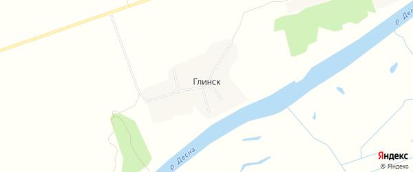 Карта деревни Глинска в Брянской области с улицами и номерами домов
