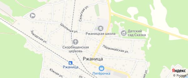 2-й Вокзальный переулок на карте села Ржаницы с номерами домов