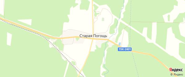 Карта деревни Старой Погощи в Брянской области с улицами и номерами домов
