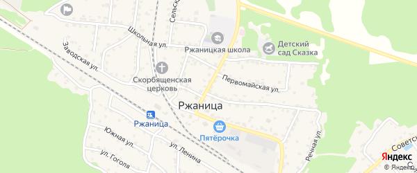 Вокзальная улица на карте села Ржаницы с номерами домов