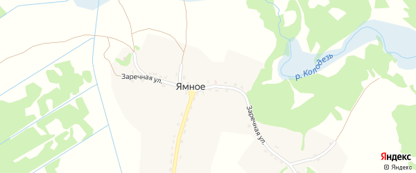 Заречная улица на карте Ямного села с номерами домов