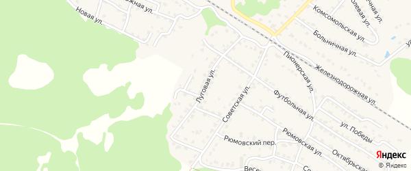 Луговая улица на карте села Ржаницы с номерами домов