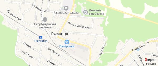 Улица Конотовского на карте села Ржаницы с номерами домов