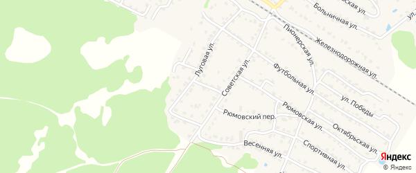 2-й Луговой переулок на карте села Ржаницы с номерами домов