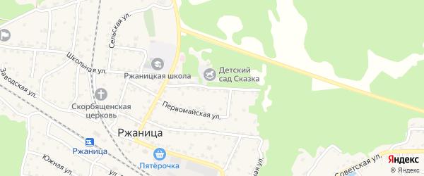 Лесная улица на карте села Ржаницы с номерами домов