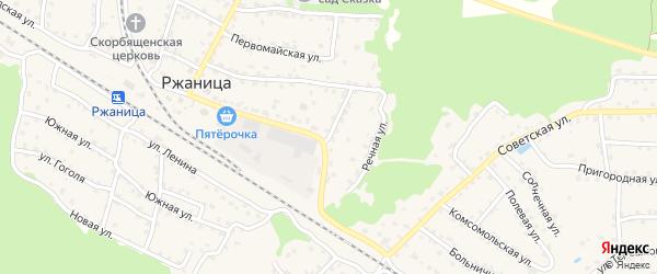 Улица Некрасова на карте села Ржаницы с номерами домов