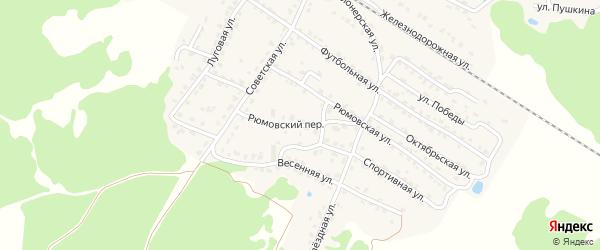 Рюмовский переулок на карте села Ржаницы с номерами домов