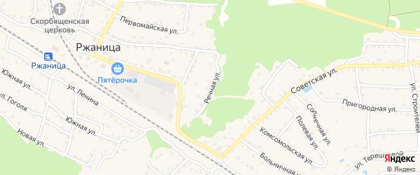 Речная улица на карте села Ржаницы с номерами домов