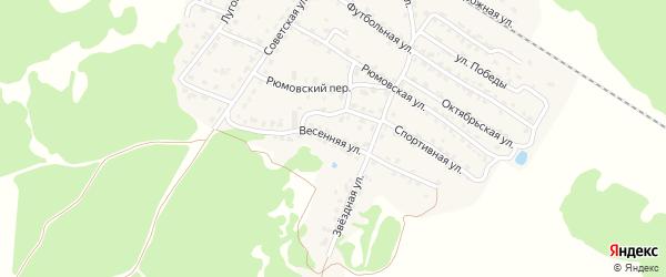 Весенняя улица на карте села Ржаницы с номерами домов